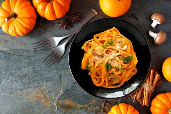 Pumpkin and vodka pasta