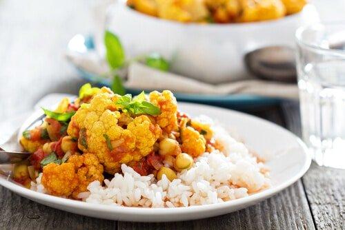 Cauliflower with curry