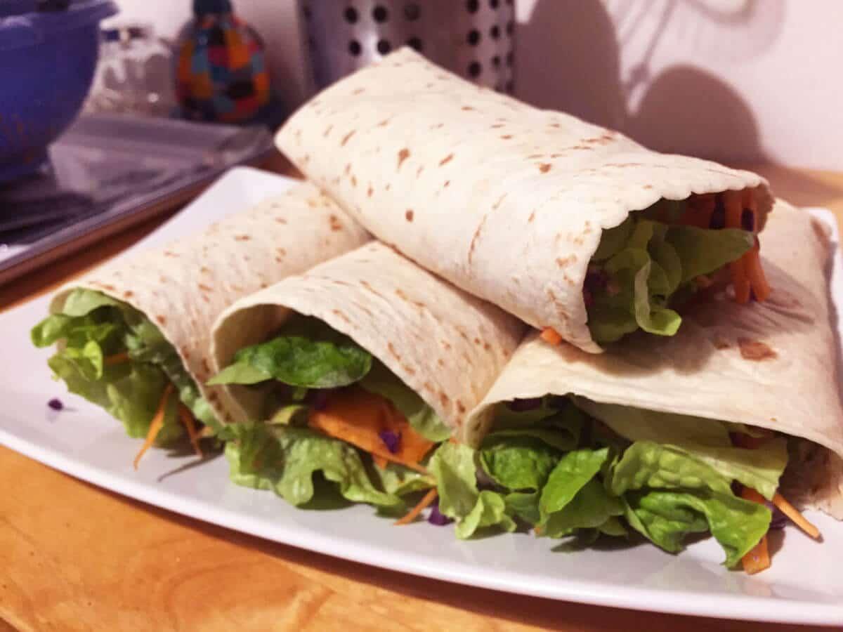 Vegetarian sweet potato wrap